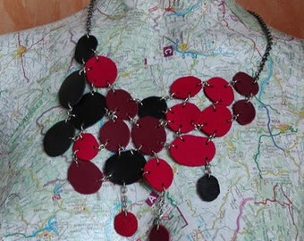 upcycled leather necklace 3 colors