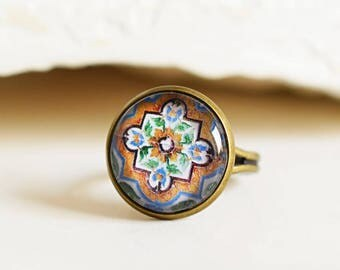 AZULEJOS Bronze Ring