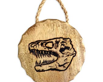 T-Rex Skull Wood Burning