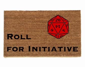 Dungeons and Dragons, Roll for initiative rollplay, gamer,  fandom geek nerd nerdy doormat eco friendly outdoor