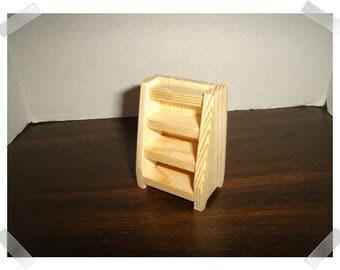 Unfinished Wooden 4-Step Shelf /Miniature/Craft Supplies*