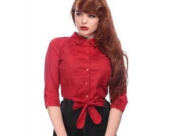 Collectif Tie blouse size 3x