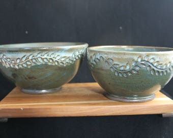 Green Fern Bowl (large)
