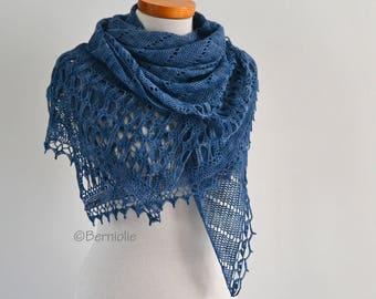 JAHLAH, Crochet shawl pattern pdf