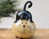 Kitty Cat Gourd Natural Primitive Decoration