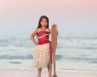 Custom Moana inspired costume tutu dress 2t