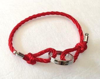 Titanium Love Red String Bracelet