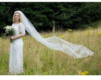 Hannah - Full length tulle veil