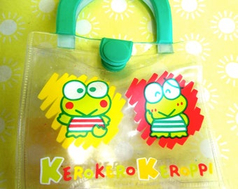 Vintage 1994 Sanrio Keroppi Frog Plastic Teeny Tiny Carry Pouch