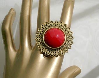 Vintage Brooch 1928 Brand Pin 80s Costume Jewelry Goldtone Filigree