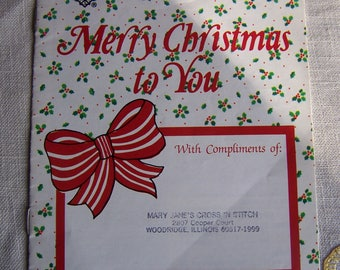 Vintage Merry Christmas To You Cross Stitch Pattern Promotional Booklet by Gloria & Pat 1982
