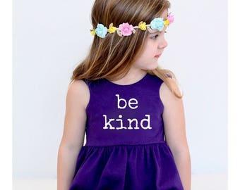 Be Kind dress, peplum, or crop top