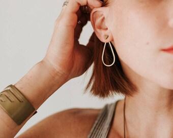 Tear Drop Jacket Earrings
