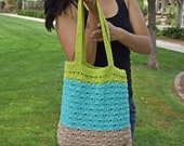 Crochet tote spring summer shoulder bag cotton avoska beach bag handbag purse farmers market bag boho bohemian tote gift for her