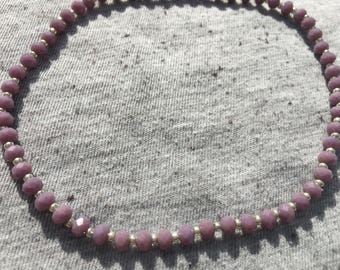 Ankle Bracelet, Stretchy Anklet, Custom Anklets, Unique Jewelry, Body Jewelry, Beaded Anklet, Purple Anklet, Womens Jewelry, Unique Gifts