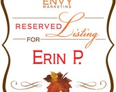 Il feuille jusqu'à m'enregistrer le marque-page Date mariage automne Save the Date, automne Save the Date, marque-page enregistrer la Date fixée, réservée pour Erin P.