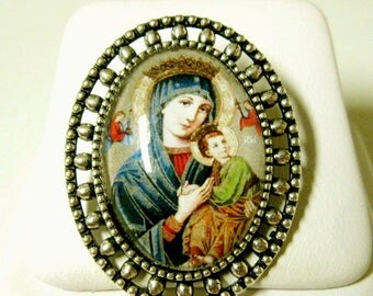 Our Lady of Perpetual Help brooch/pin - BR02-116