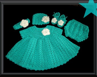 baby dress, baby clothes, crochet baby dress, crochet baby clothes, crochet baby outfit, baby girl dress, crochet baby girl set, baby outfit