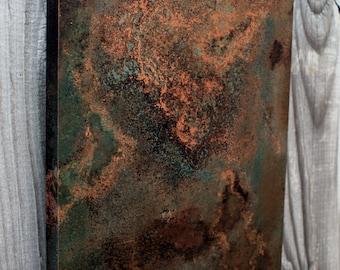 Medium Copper Wall Art. Copper Patina Art. Copper Wall Decor. Metal Wall Art. Metal Art. Metal Patina Art. 9w x 30l. Clear Coat Finish
