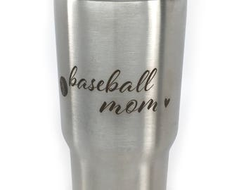 Baseball Mom Tumbler Mom Of Boys Mothers Day For Mom For Her Best Mom Ever Mama Blessed Mom Lucky Mom Mom Life 20 oz Tumbler Gift For Mom