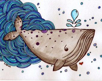 Nautical Whale and His Waves