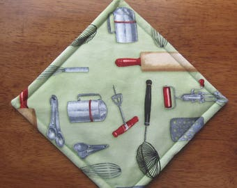 Kiss the Cook Pot Holder Quiltsy Handmade