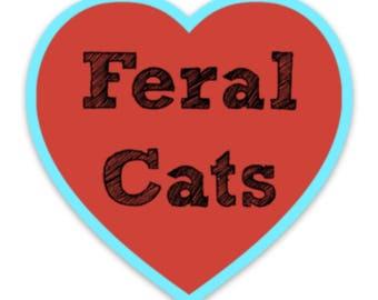 Feral Cat Love Sticker