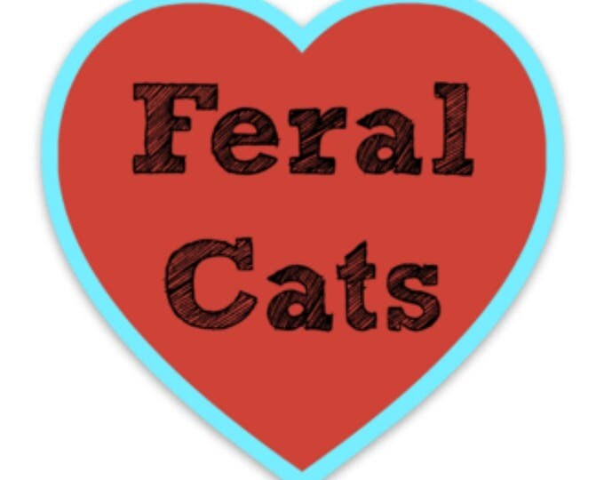 Featured listing image: Feral Cat Love Sticker