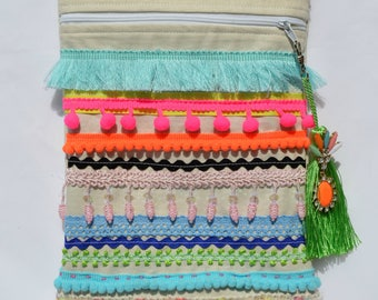 Purse Handbag - Boho Purse -  Bohemian Purse - Gypsy Purse - Sling Purse - Hipster Purse - Cross Body Purse - Hip Purse - Shoulder Bag