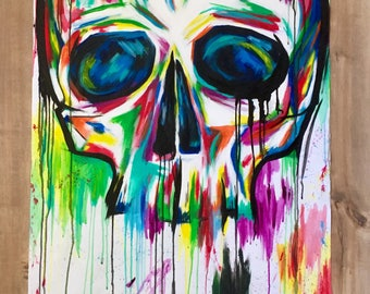 Hand Painted Skull in Acrylic