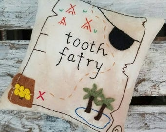 Arrrggggg. Pirate Accent/ Tooth Fairy Pillow. Pirate theme. Boy birthday