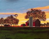 Muriel Bingham's Farm at Sunrise