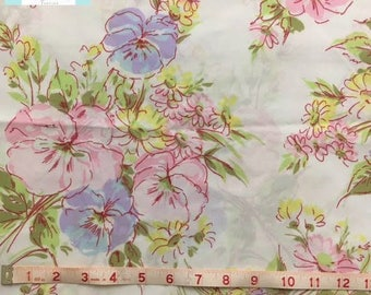 Vintage Twin Fitted Sheet with Beautiful Pink and Purple Floral