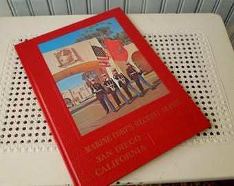 Vintage Marine corps Recruit Depot San Diego California Book - Graduation Year Book Military - U. S. Marine Corps