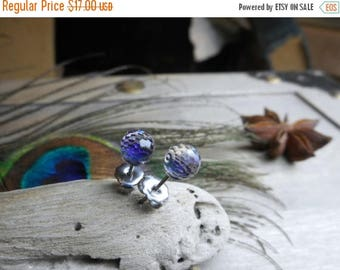 SALE The Northern Polaris. Swarovski Crystals Heliotrope Faceted Fireball domes & Titanium Post stud earrings. Gift Boxed item. Gift for her