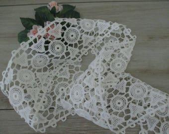 Wide Vintage Trim Lace White Wide Lace Cotton