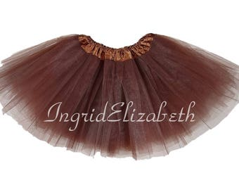 Brown Tutu, Brown Toddler Tutu, Brown Ballet Tutu, Brown Tutu Skirt, Brown Girls Tutu, Brown Dance Tutu, Tulle Skirt, Costume