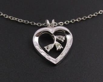 Sterling Silver Heart Pendant, Silver Heart Necklace, Heart Pendant, Sterling Heart Pendant, Valentine's Gift