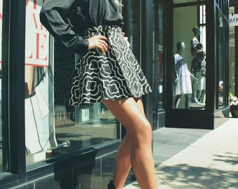 Canvas A-Line Wrap Skirt