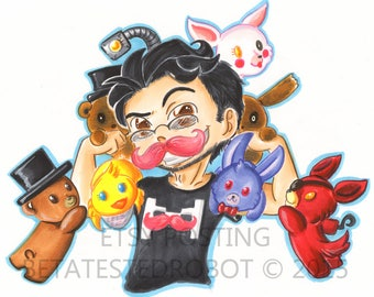 Five Nights at Freddys Markiplier Poster 11x17