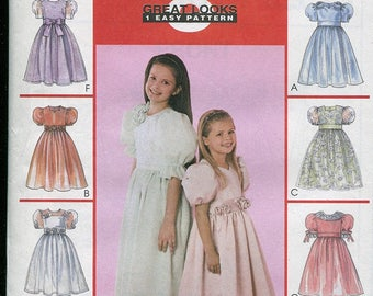 McCall's 2513 - Girl's Dresses and Veils - Sizes 3, 4, 5