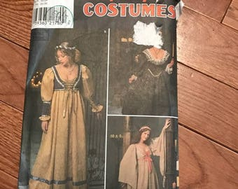 Smplicity Renaissance Style Costume Sewing Pattern 8192 Sizes 4 to 8