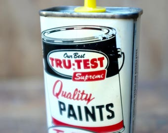 Vintage 1960s Tin Oiler Can True Value Hardware  True-Test Master Mechanic Household Oil