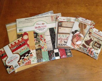 New Bo Bunny KISS THE COOK  Paper and Ephemera Collection
