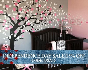 Independence Day Sale - Wall Decals - Cherry Blossom Tree - Elegant Style - LARGE Wall Decal