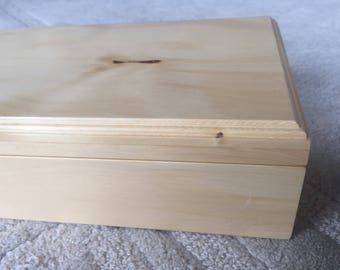 Huon Pine military medal or jewellery box