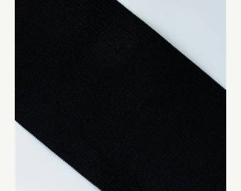 "last call Black Elastic banding, 3"" wide, goes great with any ruffle fabric color, 1 yd total -more in stock"