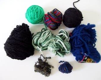Dark Yarn Scraps Assortment