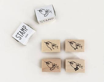 New- KNOOP Original Rubber Stamps - Sewing Hand for journaling, techo planner deco, packaging, card making