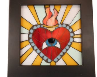 Mystic Heart Stained Glass Mosaic